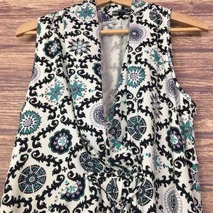 Kismet Suzaani Green Blue Short Sleeve Mini Dress